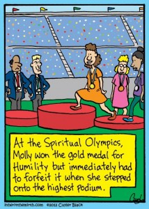 Gold medal humility
