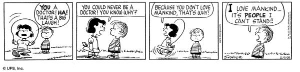 And thinking about sincere love a classic Peanuts cartoon